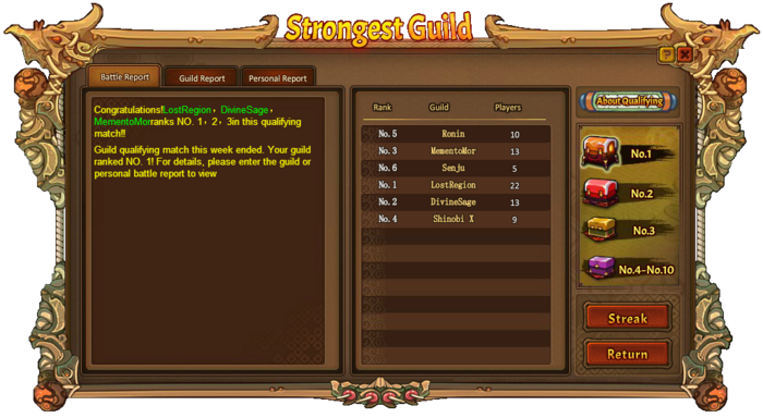 Strongest Guild Match 1