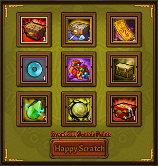 Happy Scratch Lucky Card