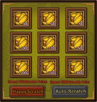 Happy Scratch Fortunate Card 2