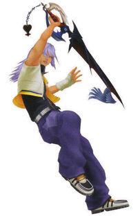 KH2 Riku+Keyblade
