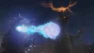 King Silvergon Blue Fire Energy Ball Blast