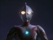 Ultraman before flies away