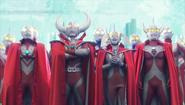 Taro and his parents hear Ultraman King