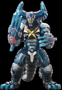 Ultraman x cyber gomora suit render II