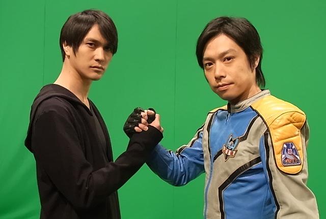 File:Hassei with Takeshi behind the scene.jpg