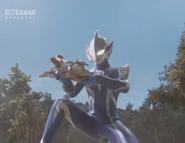 Hikari's first apperance as Ultraman Hikari
