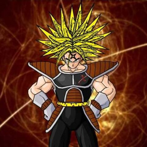 Cross on his Super Saiyan form