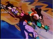 Goku destroys Super 17