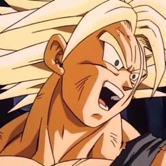 Super Saiyan Future Trunks when Vegeta decides to join the battle against Broly