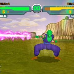 Piccolo uses the Special Beam Cannon in <i>Dragon Ball Z: Budokai</i>