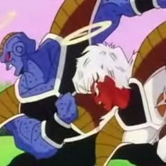 Jeice and Burter perform the Hurricane Attack against Tien