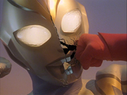 Imitation Ultraman Dyna Face cracks