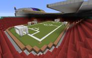 Inside football stadium