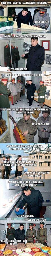 Hungry Kim Jong-un on patrol