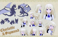 Charlotte Belew and Sigmund's Anime Character Profile Blu-ray and DVD Vol.II Booklet II