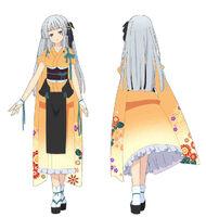 Irori's Facing Burnt Red Special Kimono Outfit