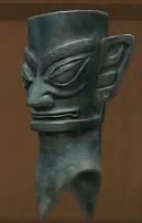 Bronze Statue Head