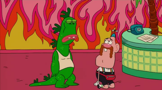 File:Uncle Grandpa, Belly Bag, and Mr. Gus in Tiger Trails 1.png