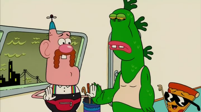 File:Uncle Grandpa, Belly Bag, Mr. Gus, and Pizza Steve in Tiger Trails 26.png