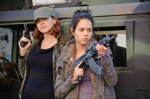 Adrianna Palicki and Alyssa Diaz