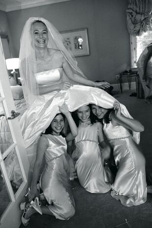 Girls Under Wedding Dress