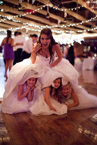 File:Adorable-flower-girls-hiding-under-dress.jpg