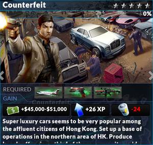 Job counterfeit