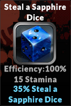 Execute steal a sapphire dice