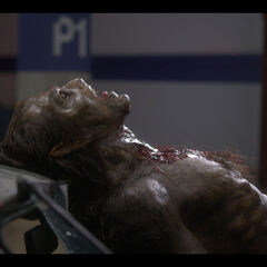 Lane after having his throat torn out.