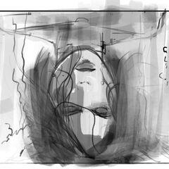 Artwork of Selene awakening from an induced coma.