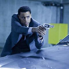 Sebastian shoots at Antigen guards.