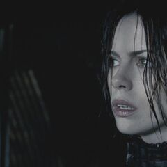Selene hears the commotion of the Lycans.
