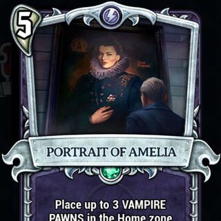 Portrait of Amelia in Underworld card game