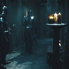 Two Death Dealers inside the castle.
