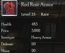 Red Rose Armor