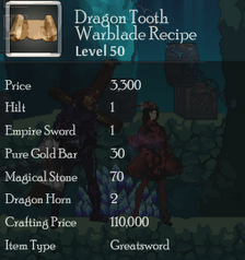 Dragon Tooth Warblade Rec