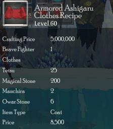 Armored Ashigaru Clothes Rec