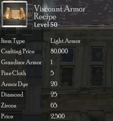 Viscount Armor Rec