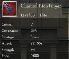 Chained Titan Finger