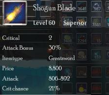 Shogun Blade