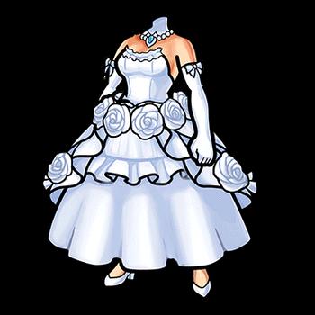 Gear-Divine Bride's Dress Render