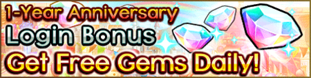 1 Year Anniv Login Bonus