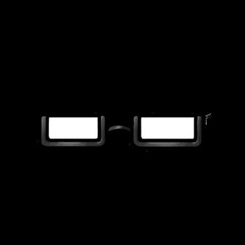 Gear-Black Half Rim Glasses Render