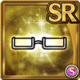 Gear-White Half Rim Glasses Icon