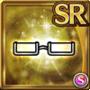 Gear-White Half Rim Glasses Icon