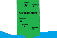 New South Africa State Map