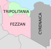 Modified Map of Traditional Provinces of Libya