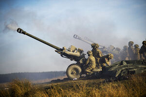 Royal Artillery Firing 105mm Light Guns MOD 45155621