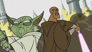 Yoda and Mace Coruscant