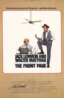 Front page movie poster